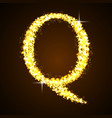 Alphabets Q of gold glittering stars vector image vector image