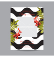 Baby Arrival Card with Photo Frame - Autumn Floral vector image vector image