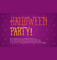 background halloween party style collection vector image vector image