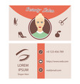 beauty salon card design vector image vector image