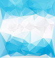 blue frozen low polygonal vector image vector image