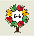 book tree concept for education vector image vector image