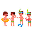 boy kindergarten kid poses set preschool vector image vector image