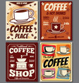 cafe and restaurant retro posters templates vector image vector image