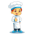 chef boy thumb up pose vector image vector image