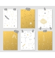 christmas greeting card banner isolated vector image vector image