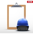 Coaching blank clipboard vector image vector image