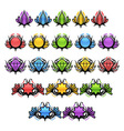 Colorful Glossy Badges vector image vector image