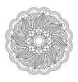 coloring page mandala vector image