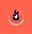 creative camp logo vector image vector image