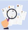 cv resume job interview concept writing a resume vector image vector image