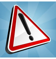 Danger Warning Traffic Sign vector image vector image