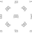 device video play pattern seamless vector image vector image