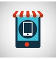 digital e-commerce smartphone icon design vector image vector image