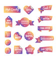 discount shopping banners and pricing labels with vector image