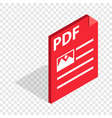 document file format pdf isometric icon vector image vector image