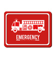 Emergency design vector image vector image