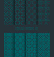 fashion fabric ornament collection endless vector image vector image