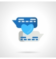 Flat blue love message icon vector image