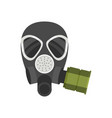 flat icon of respirator for firefighters or vector image