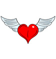 flying heart vector image vector image