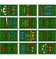 football fields vector image vector image