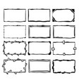 frame doodle collection with handdrawn cartoon vector image vector image