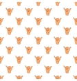 Gesture shaka pattern cartoon style vector image vector image