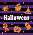 Halloween Party Banner with Shine Orange vector image vector image