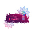 happy diwali background with hanging lamp vector image vector image