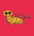 happy new year 2018 horizontal greeting card vector image vector image