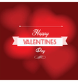 Happy Valentine s Day postcard vector image vector image