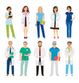 healthcare medical team workers vector image vector image