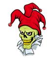 joker skull vector image vector image