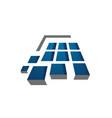 laminate tile parquet flooring logo design in 3d vector image vector image