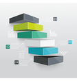 Modern business steps to success vector image vector image