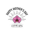 orchid mother s day card in format vector image vector image