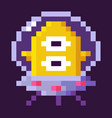 pixel space game alien in spaceship invader vector image