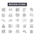 review line icons signs set linear vector image vector image