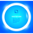 round frame your message bright blue button vector image vector image