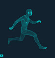 running man polygonal design 3d model of man vector image