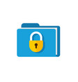 secure confidential files folder with paper vector image vector image