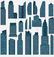 Set of detailed skyscraper vector image vector image