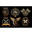Set of racing badge vector image vector image