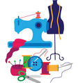 sewing and textiles vector image vector image