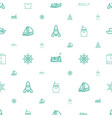 ship icons pattern seamless white background vector image vector image