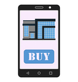 Smartphone with realty app House sale vector image vector image