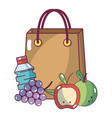 supermarket products cartoon vector image vector image