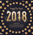 template of a square banner for a happy new vector image vector image