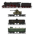 the vintage military steam train vector image vector image
